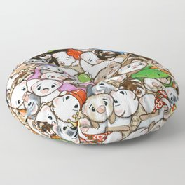 One Hundred Million Ferrets Floor Pillow