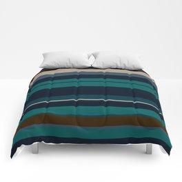 minimalistic horizontal stripes pattern hbi Comforters