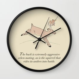 The Buck And The Squirrel Wall Clock