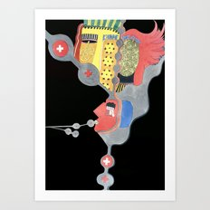 Dark minds Art Print