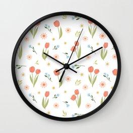 pastel florals Wall Clock