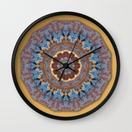 Colors of Rust / mandala-style-rust Wall Clock