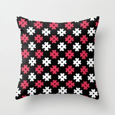 Hashtag Pattern Throw Pillow