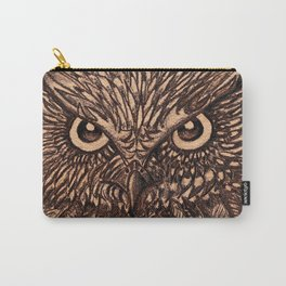 Fierce Brown Owl Carry-All Pouch