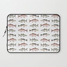 Pattern: Inshore Slam ~ Redfish, Snook, Trout by Amber Marine ~ (Copyright 2013) Laptop Sleeve