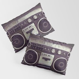 Retro Boombox Pillow Sham
