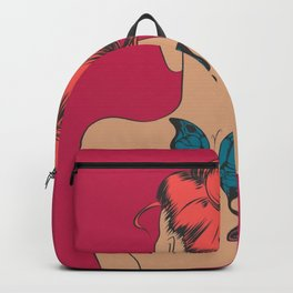 Girl with a Butterfly Tattoo Backpack