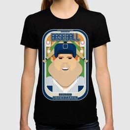 Baseball Blue Pinstripes - Rhubarb Pitchbatter - Josh version T-shirt