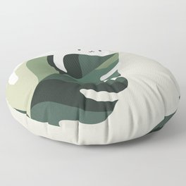 Cat and Plant 12C Floor Pillow