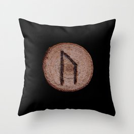 Uruz Elder Futhark Rune determination, persistence, freedom, courage, will, territoriality Throw Pillow
