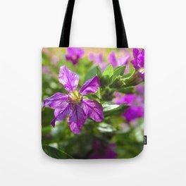Violet Flowers Tote Bag