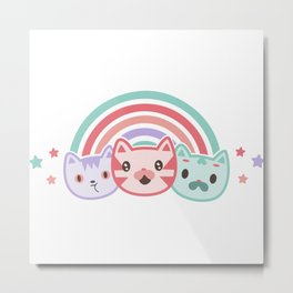 Cute cats Metal Print