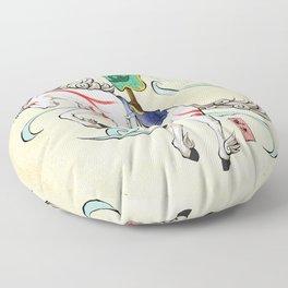 Okami Horse Zodiac Sign Floor Pillow