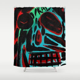 Kal - Abstract expressionism portrait Shower Curtain