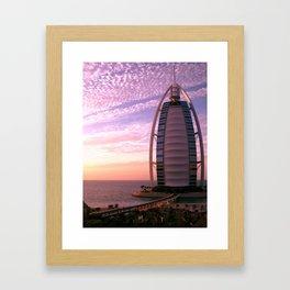 Burj Al Arab at Sunset Framed Art Print