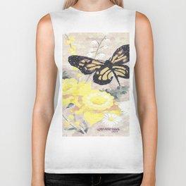Butterfly Visit Biker Tank