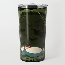 Sleeping with Snorlax Travel Mug