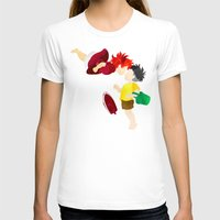 ponyo T-shirts featuring Ponyo and Sosuke white background by foreverwars