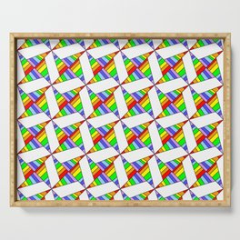 optical pattern 25 Serving Tray