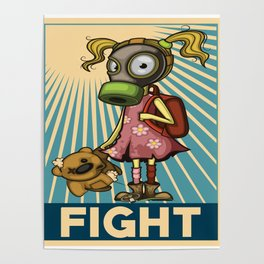 Fight Pollution Girl Rise Against Pollution Polluted World Poster