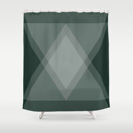 Emerald Green Diamond Argyle Shower Curtain