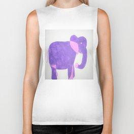 Purple Elephant Biker Tank