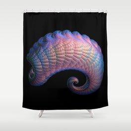 3D Fractal Curl Shower Curtain