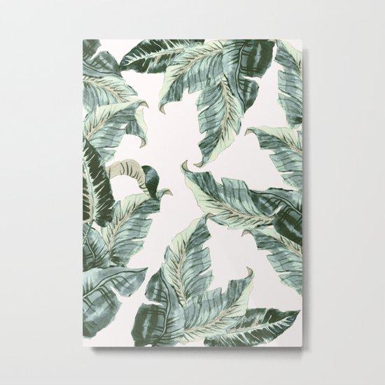 Tropical Banana Leaves Metal Print
