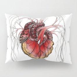 Butterfly Heart Red Pillow Sham
