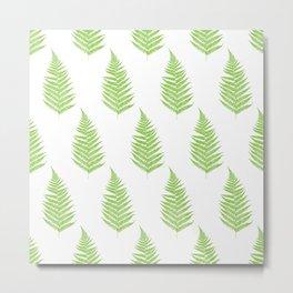 Fern frond silhouettes seamless pattern. Metal Print