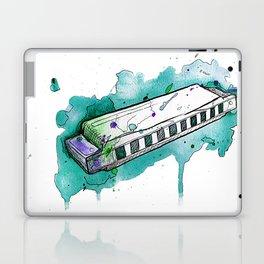 Watercolor Harmonica (Teal) Laptop & iPad Skin