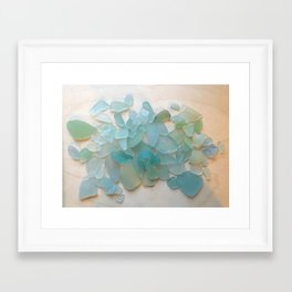 Ocean Hue Sea Glass Framed Art Print