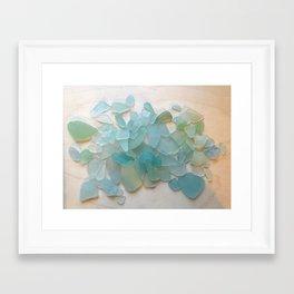 Ocean Hue Sea Glass Framed Art Print