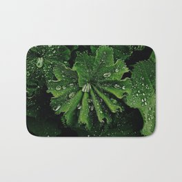 Dew On Rose Scented Geranium Leaves Bath Mat