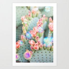 Prickly Pear Bubbles Art Print