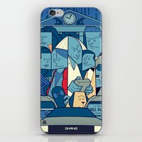 back to the future iPhone & iPod Skins featuring Back to the Future by Ale Giorgini