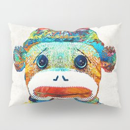 Sock Monkey Art - Your New Best Friend - By Sharon Cummings Pillow Sham