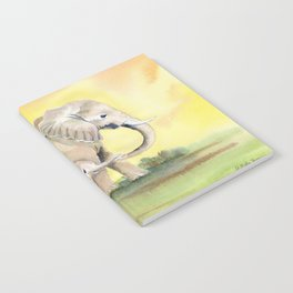 Colorful Mom and Baby Elephant 2 Notebook