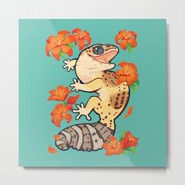 Fire lily gecko Metal Print