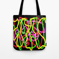 neon Tote Bags featuring Neon by Vitta
