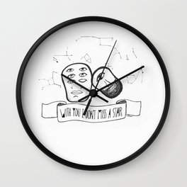 With you I don't miss a star Wall Clock