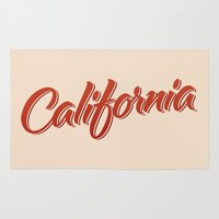 california Area & Throw Rugs featuring California by mavgraphic
