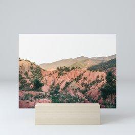 Orange mountains of Ourika Morocco | Atlas Mountains near Marrakech Mini Art Print