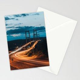 Blue Dusk Bridges Stationery Cards