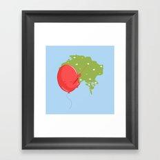 Weather Balloon Framed Art Print