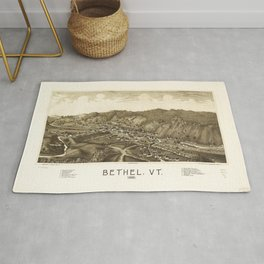 Aerial View of Bethel, Vermont (1886) Rug