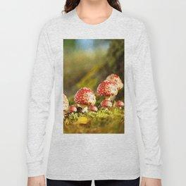 Beautiful but toxic - Fly agaric - Amanita - Autumn illustration - #society6 #buyart Long Sleeve T-shirt