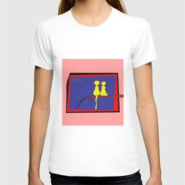 love and cats . art T-shirt
