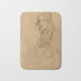ANKER, ALBERT (1831 Ins 1910) Old woman with a book. Bath Mat