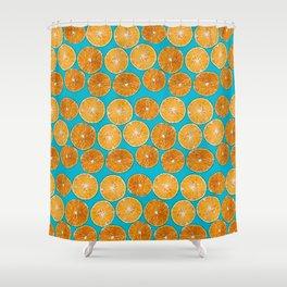 Orange slice Shower Curtain